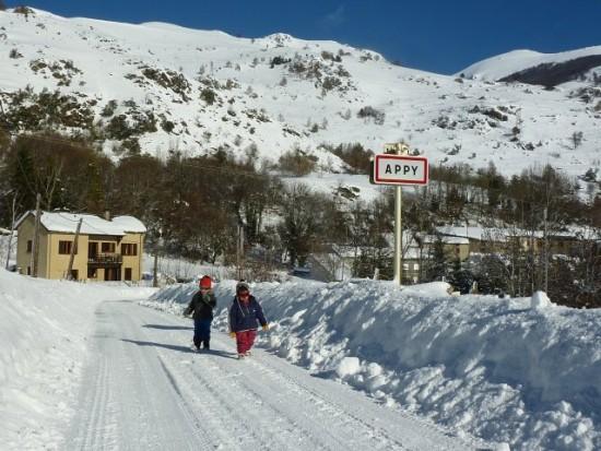 Appy, petit village de montagne en Haute Ariège dans les Pyrénées, au sud de Toulouse.