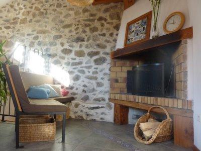 Gîte rural avec cheminée en montagne