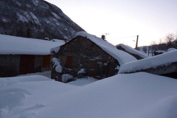 Notre gîte rural en montagne, sous la neige !
