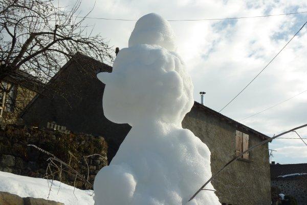 Le bonhomme de neige de Kalista : du beau travail, il est magnifique !
