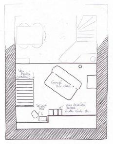 Location d'un gite avec une belle mezzanine aménagée en salon
