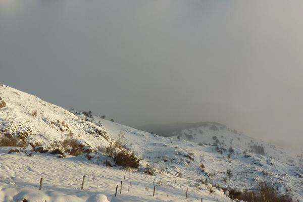 Notre gîte de montagne en Ariège Pyrénées... sous la neige !